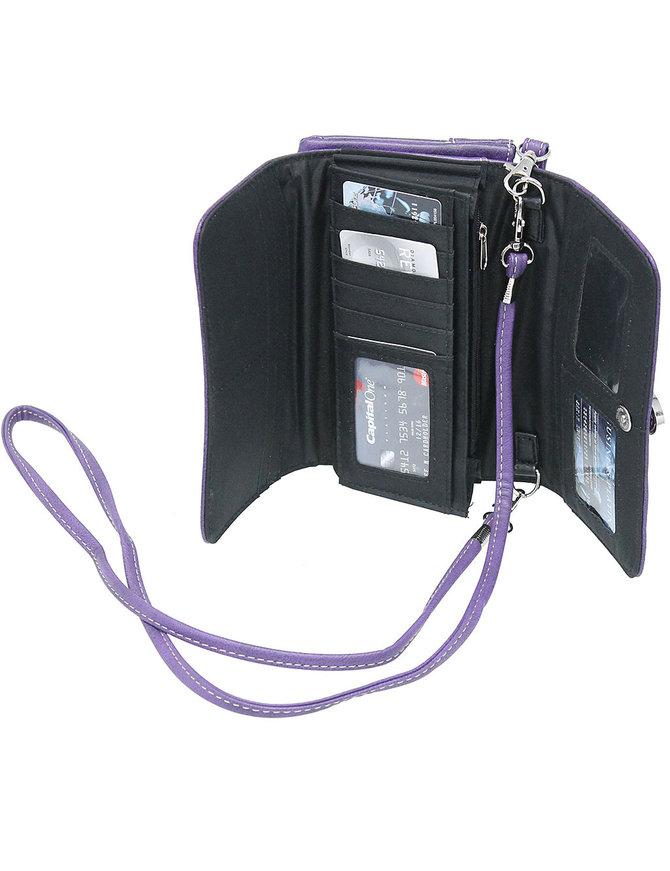 Western Buckle Clutch Wallet with Strap #WL2060189WB