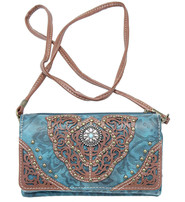 Stud and Concho Clutch Wallet with Strap #WL2060211TS