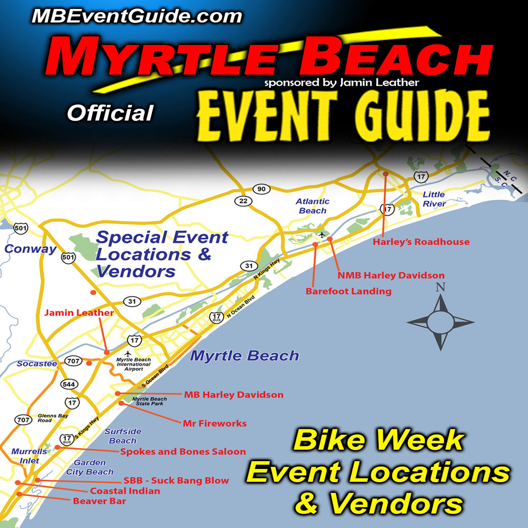 Myrtle Beach Fall Bike Week Event Locations!!