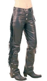 Stud & Fringe Western Leather Pants #LP9024SF