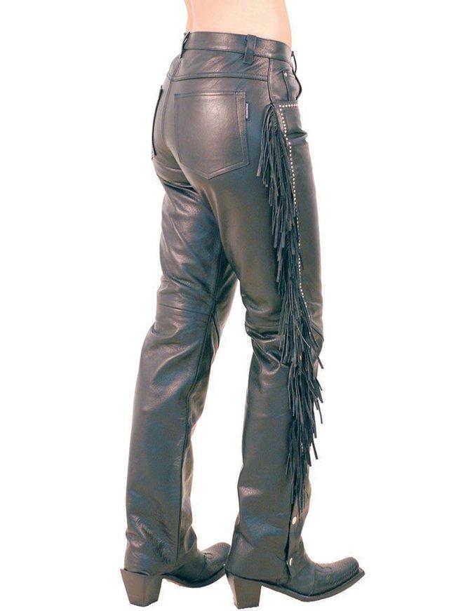 Stud & Fringe Western Leather Pants #LP9024SF
