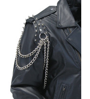 Updated Spiked Leather Epaulet Chains #AE2011CSP