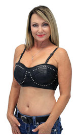 Leather Studded Bra #LH528STUD (S-XL)
