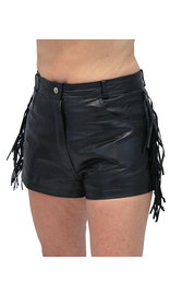 Fringe Leather Shorts #SH3102FK (L-2X)