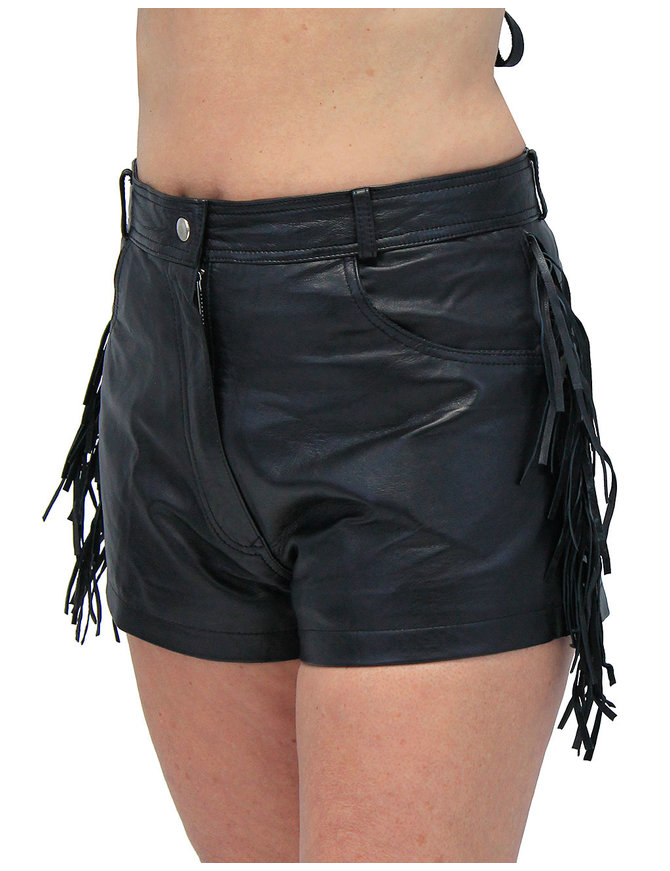 Fringe Leather Shorts #SH3102FK (L-2X)