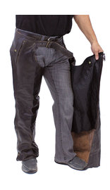 Jamin Leather 4 Pocket Dark Retro Brown Chaps w/Removable Lining #C611ZPDN
