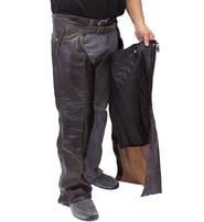 Jamin Leather 4 Pocket Dark Retro Brown Chaps w/Removable Lining #C611ZPDN