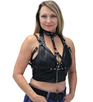 Strap Harness Top with Collar #LH14590K