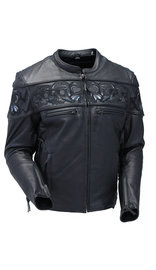 Milwaukee Naked Leather Reflective Skull Jacket w/CCW Pocket #M15000GZSK