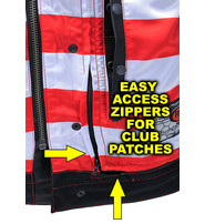 First MFG Red Stitch Flag Lined Premium CCW Club Vest #VM684FLAGR