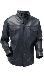 Men's Soft Lambskin Leather Shirt Deal #MS863K