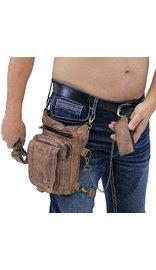 Vintage Brown Leather Thigh Bag w/CCW Pocket #TBA5734N