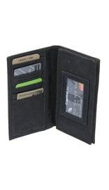Charcoal Vintage Long Leather RFID Wallet Checkbook #W513520KID