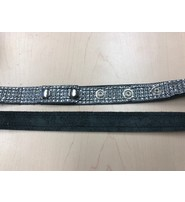 Jamin Leather Adjustable 5 Row Simulated Crystal Belt #BT20015CRY