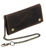 Vintage Brown Long Chain Wallet Organizer #WC54375N