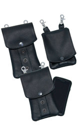 Jamin Leather Black Leather Cell Phone Case - Adjustable Clip-On #PKK18090K