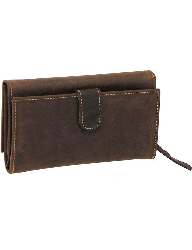Women's Vintage Brown Clutch Wallet #WL163311N