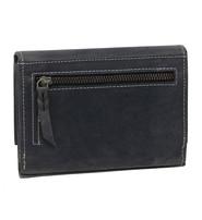 Women's Vintage Charcoal Hibiscus Embossed Wallet #WL163320FK