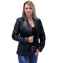 Lightweight Button-Up Lambskin 4 Pocket Coat #L718024K