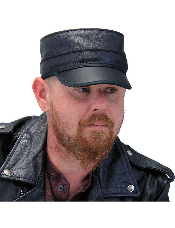 Black Leather USA Bottle Rocker Cap #H49000K