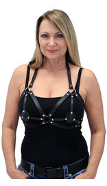 Multi-Strap Harness Bra with Rings #LH14584RK