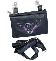 Purple Embroidered Eagle Clip Pouch #PKK216317P