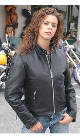 Women's Premium Buffalo Leather Scooter Jacket #L2720ZGK (S-3X)