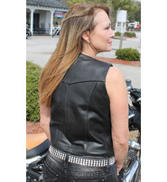 Premium Buffalo Leather Vest for Women #VL410K