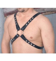 Made in USA Unisex Double Ring Leather Harness #UM101HK