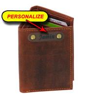 Men's Vintage Brown Classic Trifold Wallet #WM13141NID