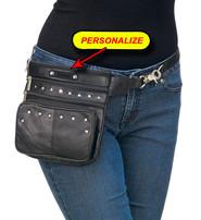 8 x 7 Studded Clip-On Hip Klip Bag w/Removable Strap #PKK15RK