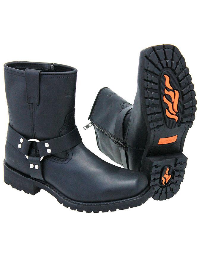 Men's 7 inch Zipper Harness Boots #BM1436HZK
