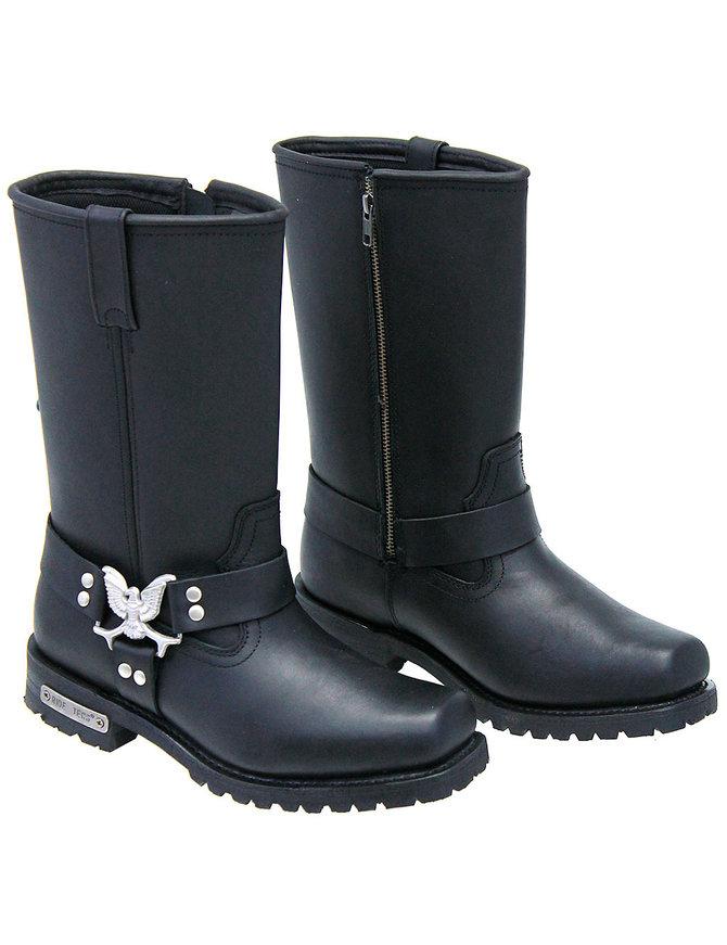 Men's Eagle Harness Zipper Boots Wide #BM1442EZK