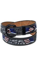 USA Brand Colorful USA Flag Belt with Removable Buckle #BT162USA