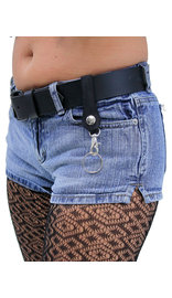 Jamin Leather Black Belt Loop Key Chain with Claw Clip #KC18060K