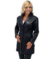 Jamin Leather Women's Fashion Long Leather Coat #L2173BTK