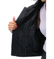 Unik Textile and Leather Vented Jacket for Women #L2266VZ