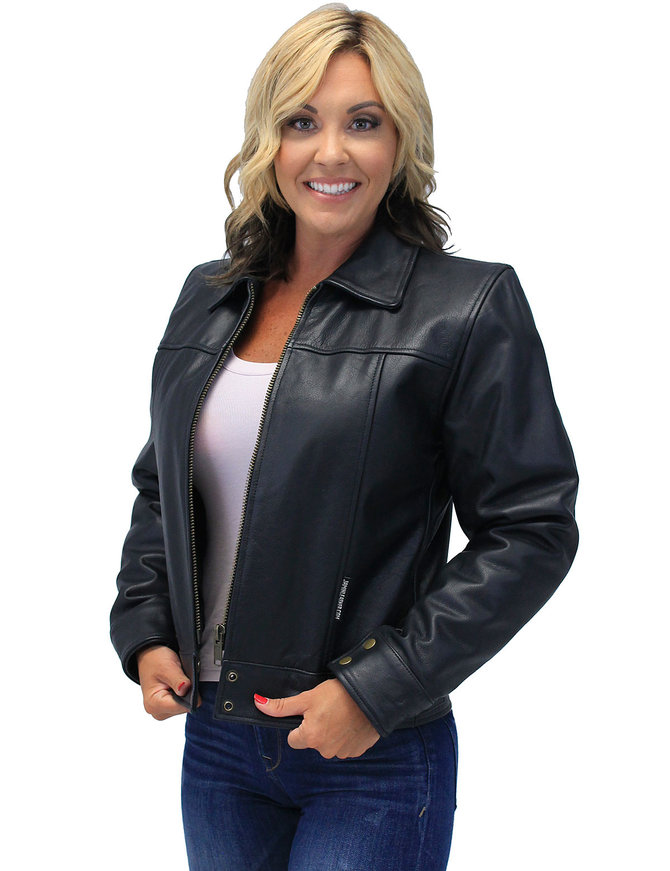 Jamin Leather Tough Lady Heavy Cowhide Leather Jacket #L1401192ZK