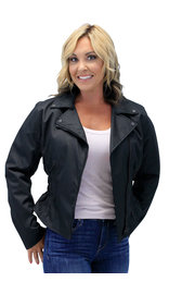 Road Angel - Women's Lightweight Motorcycle Jacket w/Vents #LC3554ZK (S-3X)