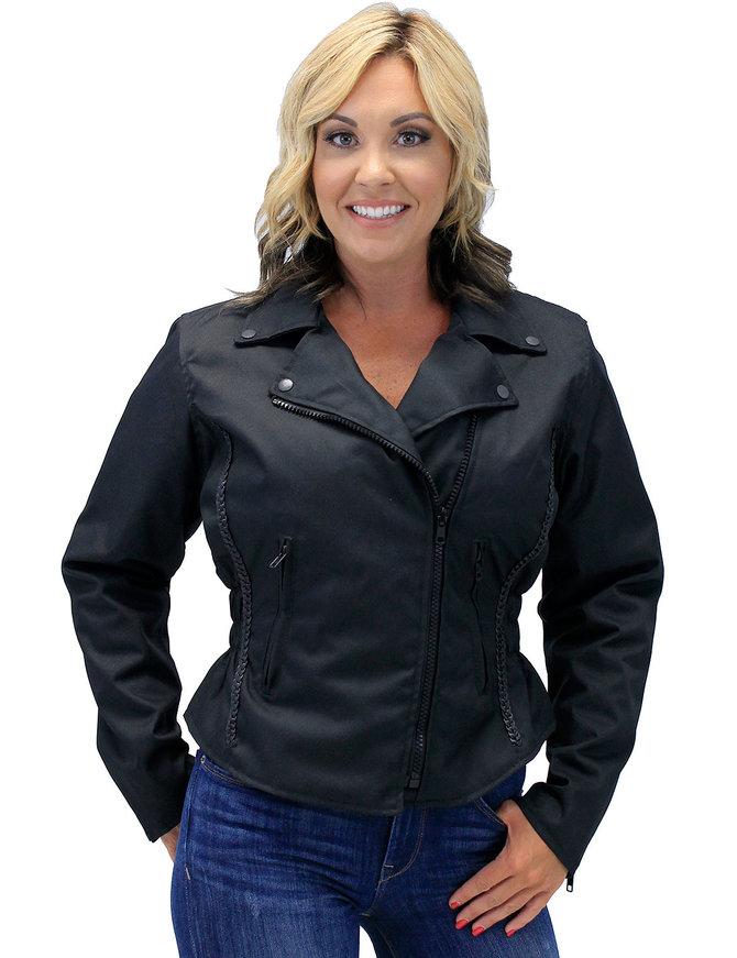 Road Angel - Women's Lightweight Motorcycle Jacket w/Vents #LC3554ZK