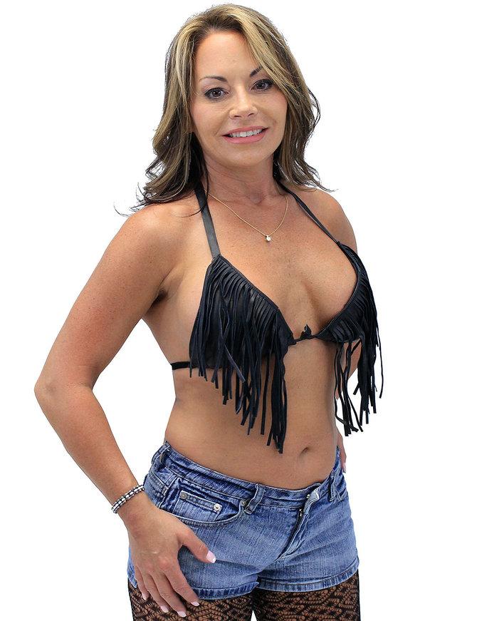 Fringe Leather Bikini Top #LH1107FK