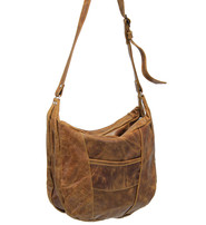 Vintage Brown Round Bottom Large Leather CCW Purse #P4911GN
