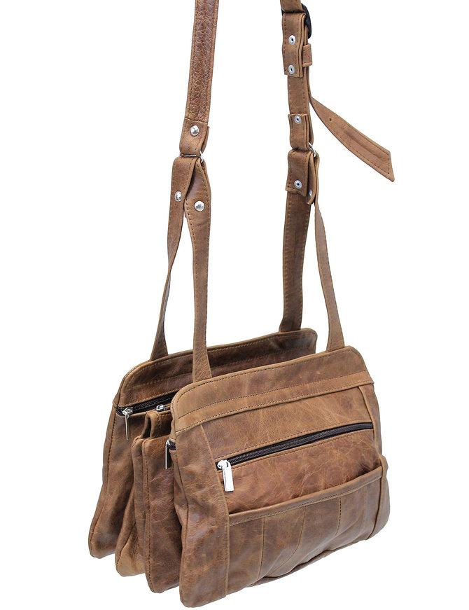 Expandable Vintage Brown Leather CCW Purse #P5281GN