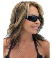 Foam Filled Classic Biker Glasses w/Thick Black Frame #SG2182FF