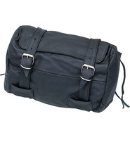 Large Soft Black Leather Motorcycle Tool Pouch #TP744K