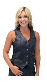 Ladies Side Lace Economy Vest #VL338PL