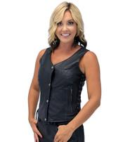 Unik Purple Stitch Women's Double CCW Side Lace Vest #VL6890GLP