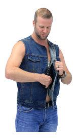 First MFG Blue Denim Club Vest w/Easy Access Pocket #VMC624GU