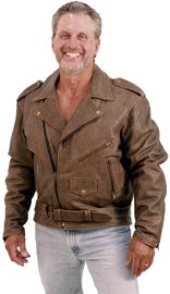 Jamin Leather Rich Brown Genuine Leather Jacket for Men #M38ZN (38-52)