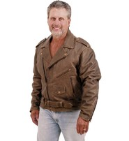 Jamin Leather Rich Brown Genuine Leather Jacket for Men #M38ZN